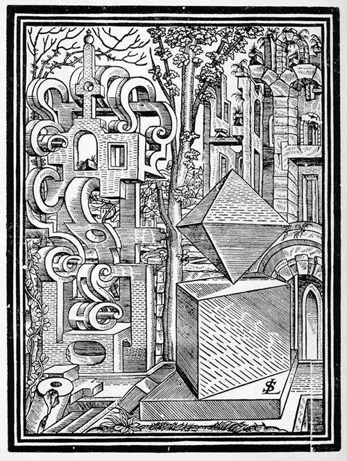 Plate from Geometria et perspectiva [1575] - Lorenz Stoer