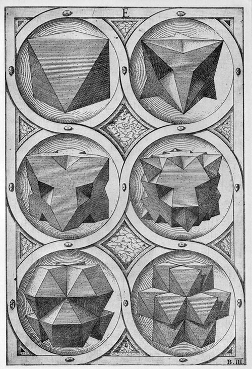 Plate from Perspectiva Corporum Regularum [1568] - Wenzel Jamnitzer