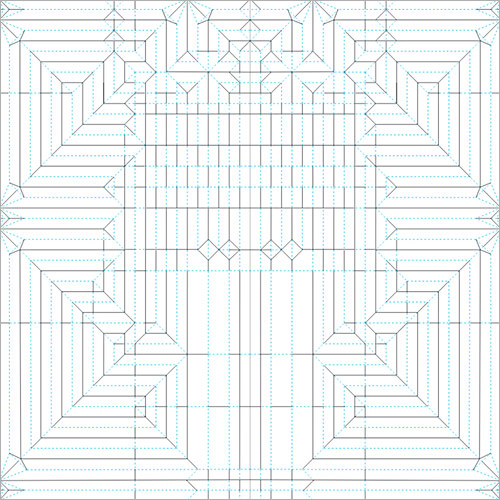 Salt Creek Tiger Beetle opus 484 encoding process robert j lang's origami crease patterns