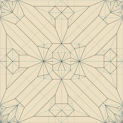 Tree Frog opus 280 encoding process robert j lang's origami crease patterns